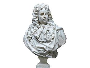 Bedeutende Marmorbüste einer hochrangigen Persönlichkeit am Hof Ludwigs XIV, möglicherweise Marquis de Louvois (1641 - 1691)