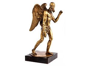 Vergoldete Bronzefigur eines Chronos