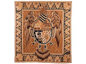 Wandteppich mit heraldischem Wappen