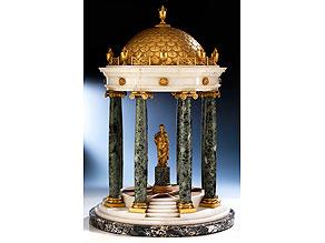 Tempietto in Marmor und vergoldeter Bronze