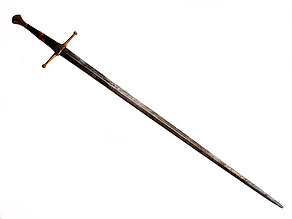 Zweihandschwert im Stil der Spätgotik
