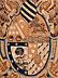 Detail images:  Wandteppich mit heraldischem Wappen