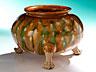 Detail images:  Keramik-Gefäß mit Sancai-Glasur