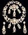 Detail images:  Perl-Collier, Brosche und zwei Ohrhänger