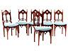 Detail images:  Satz von sechs feinen, neugotischen Stühlen