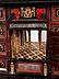 Detail images: Eleganter Kabinettkasten in Ebenholz und leuchtend rotem Schildpatt