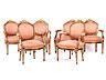 Detail images: Seltener Satz von zwölf höfischen Louis XVI-Sesseln