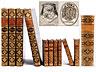 Detail images: † Eine Bibliothek mit 504 Büchern des 18. Jahrhunderts