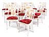 Detail images:  Satz von 14 Stühlen