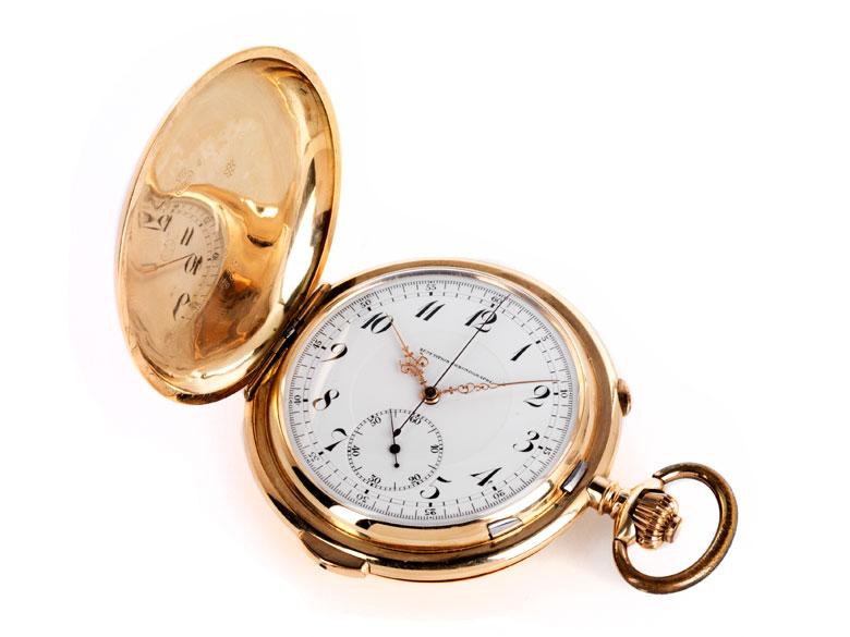 Herrentaschenuhr, Savonette, 14 kt Gold