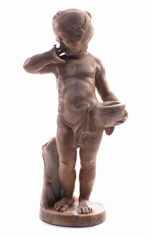 Kleine Skulptur eines Kindes