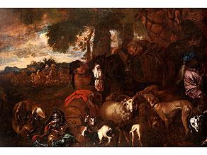 Giovanni Benedetto Castiglione, Il Grechetto , 1609 Genua – 1664 Mantua, zug.
