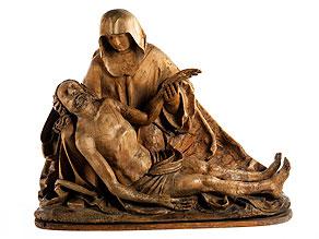 Pietà-Vesperbild des beginnenden 16. Jahrhunderts aus bedeutender Sammlung