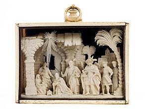 Diorama mit Anbetung der Heiligen Drei Könige