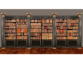 † Eine Bibliothek mit 639 Büchern des 18. Jahrhunderts