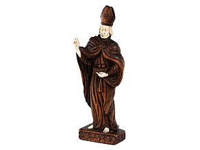 Schnitzfigur des Heiligen Nikolaus
