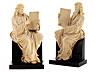 Detail images: Paar Elfenbein-Schnitzfiguren zweier Evangelisten