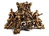 Detail images: Außergewöhnliche Bronze-Basis mit den Kardinaltugenden