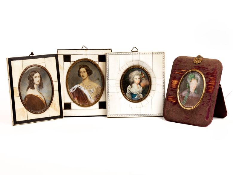Konvolut von vier Miniaturen