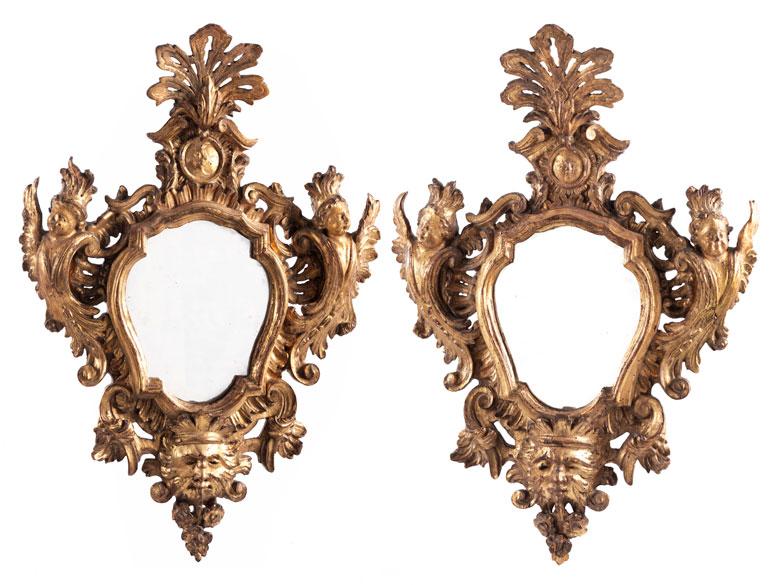 Paar Rokoko-Spiegel