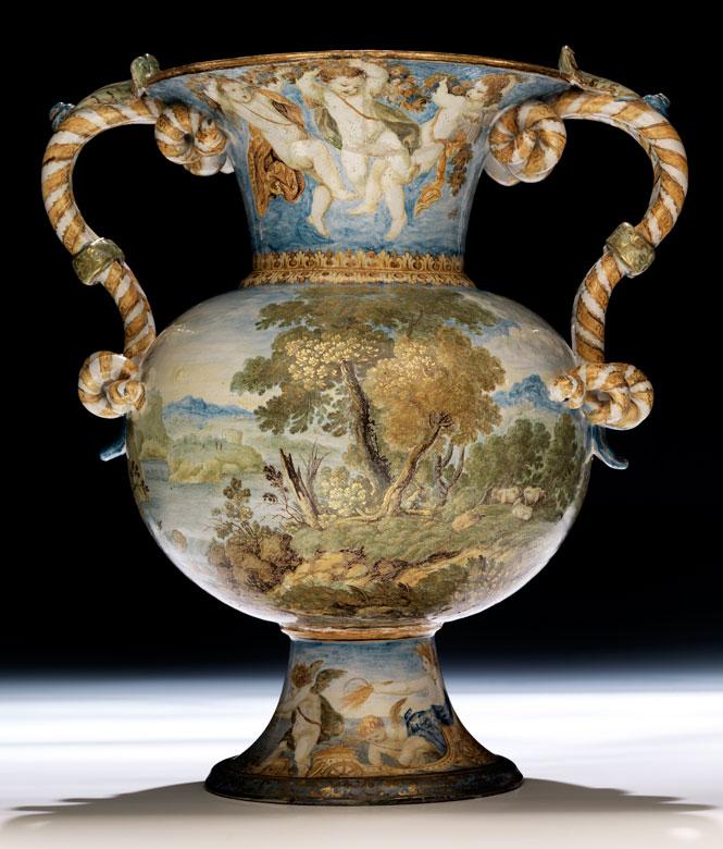 Majolika-Vase von Carlo Antonio Grue, 1655 - 1723