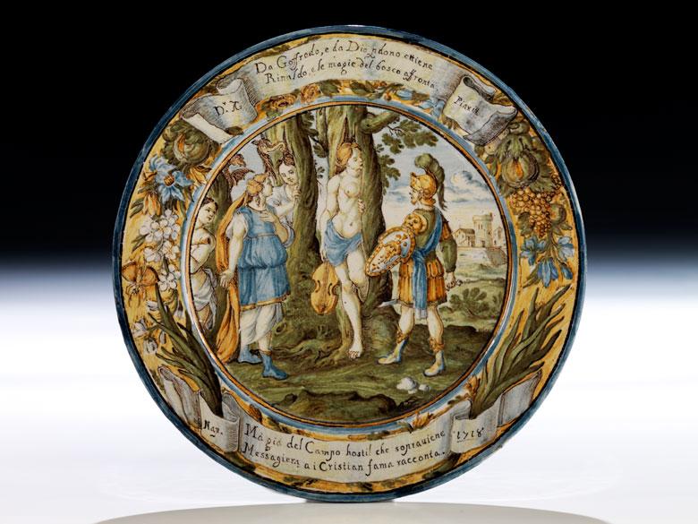 Majolika-Teller von Francesco Antonio Saverio Grue, 1686 - 1723