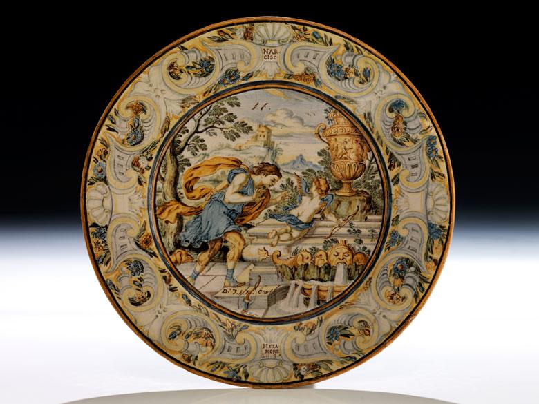 Majolika-Teller von Francesco Antonio Saverio Grue, 1686 - 1746