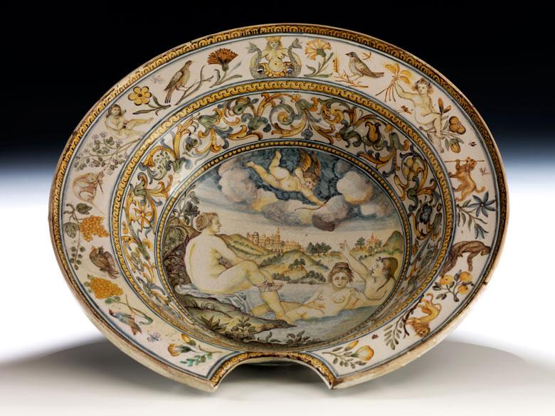 Majolika-Rasierschale, Werkstatt der Pompei