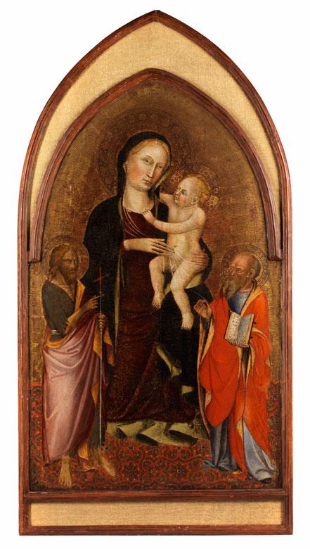 Meister von San Martino a Mensola, italienischer Maler, tätig um 1400 in der Toskana