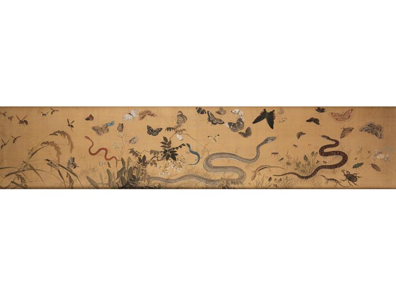 Dekoratives Gemälde auf Textil