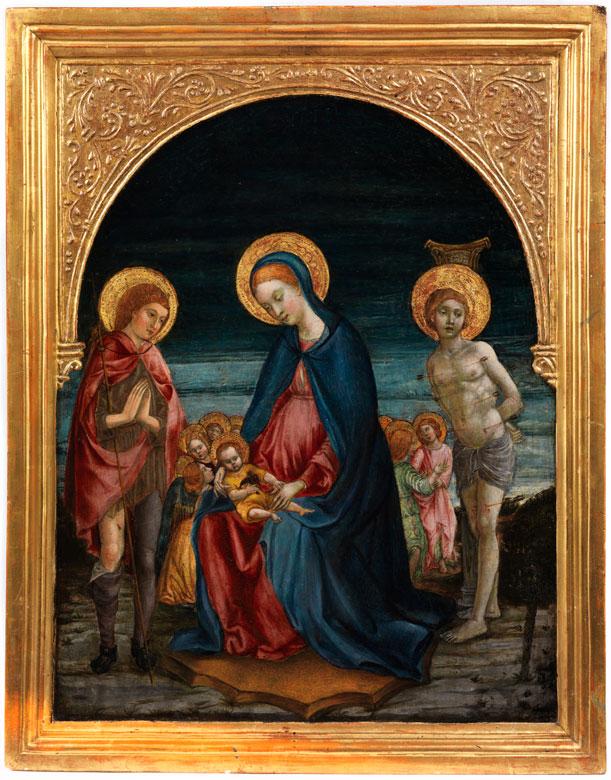Italienischer Maler des 15. Jahrhunderts, Benedetto Bonfigli, um 1420 Perugia – 1496, zug.