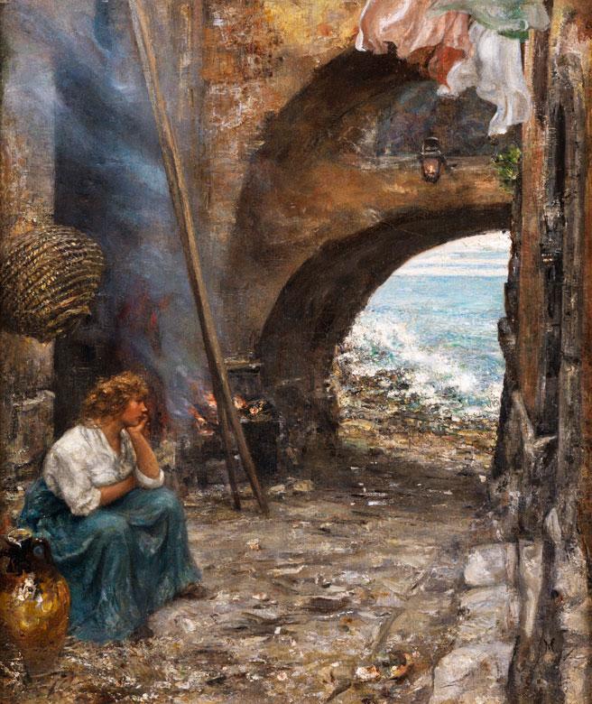 Vincenzo Migliaro, 1858 Neapel – 1938, Werke seiner Hand im Museum von San Martino Neapel