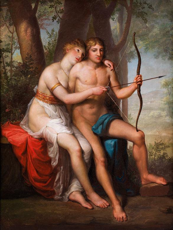 Französischer Maler des 19. Jahrhunderts, wohl aus dem Kreis der für den Prix de Rome tätigen Künstler der ersten Hälfte des Jahrhunderts