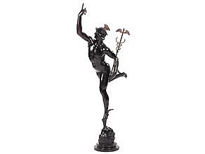 Große Bronzefigur des Merkur, nach Giovanni da Bologna