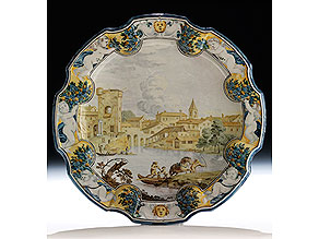 Große Majolika-Platte von Aurelio Grue, 1699 - 1751