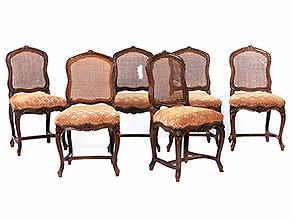 Satz von sechs Barockstühlen