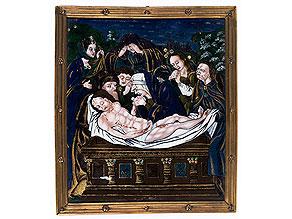 Emailbild mit Darstellung der Beweinung Christi