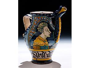 Majolika-Sirupkanne aus der Werkstatt des Orazio Pompei