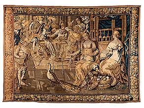 Wandgobelin mit mythologischer Szenendarstellung