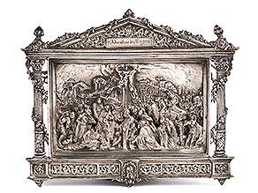 Relief mit Kreuzigung