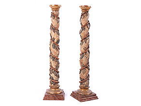 Paar barocke Podestsäulen