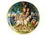 Detail images: Majolika-Istoriato-Coppa auf elegantem Fuß