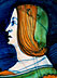 Detail images: Bedeutendes Majolika-Portrait-Tondino aus Faenza