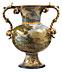 Detail images: Majolika-Vase von Carlo Antonio Grue, 1655 - 1723