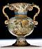 Detailabbildung: Majolika-Vase von Carlo Antonio Grue, 1655 - 1723
