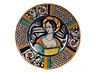 Detail images:  Majolika-Platte mit Bella Donna -Darstellung