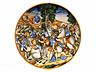 Detail images: Majolika-Teller mit Istoriato-Dekor, Maestro della coppa Bergantini , zug.