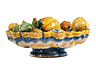 Detail images:  Seltene Majolika-Crespina mit Früchten aus der Werkstatt des Enea Utili