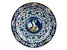 Detail images:  Majolika-Platte mit Bella Donna -Darstellung aus der Werkstatt der Familie Mancini