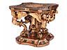 Detail images: Höchst dekorativer, reich figürlich geschnitzter Salontisch im Barockstil